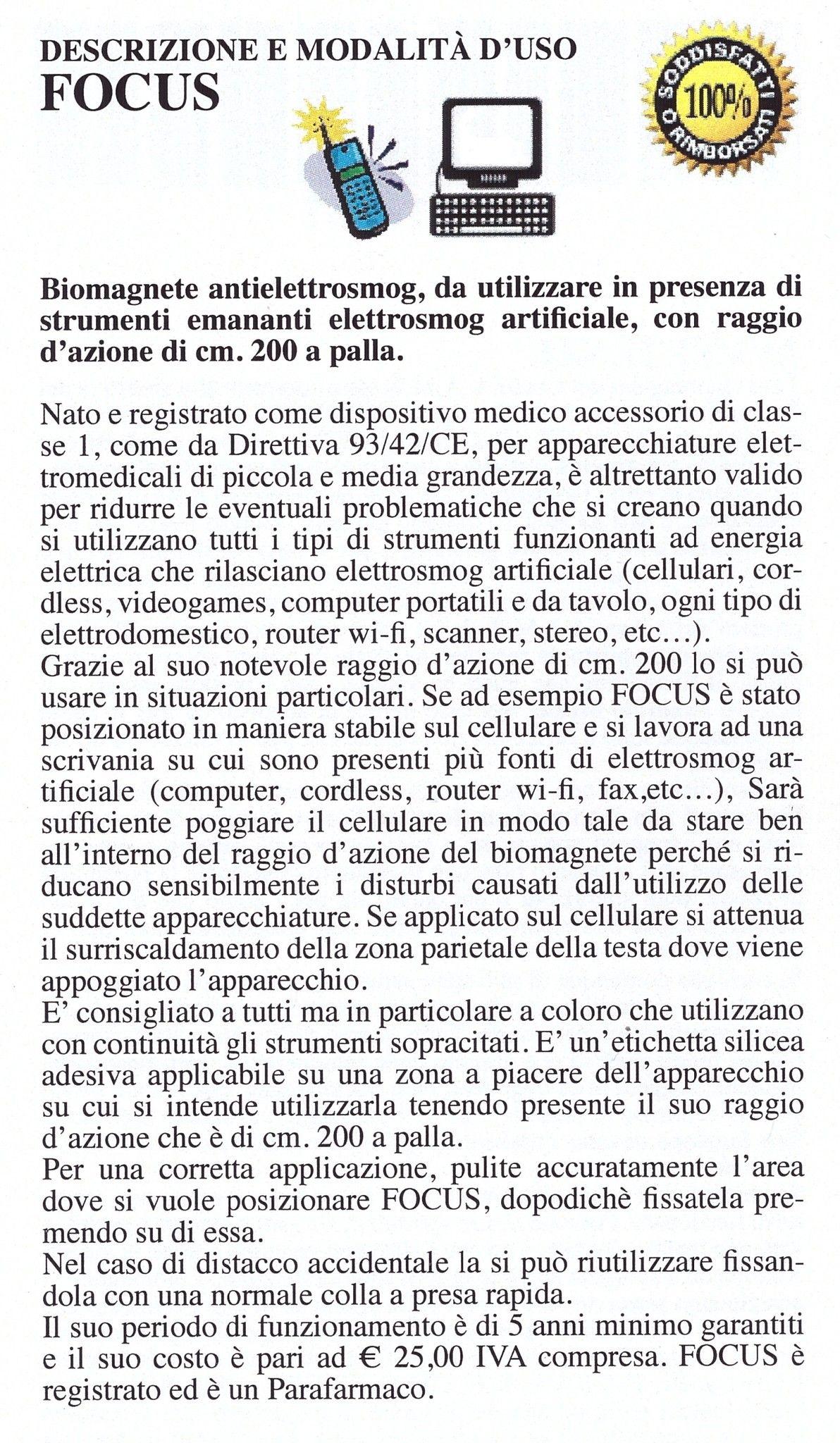Biomagnete al Silicio Focus
