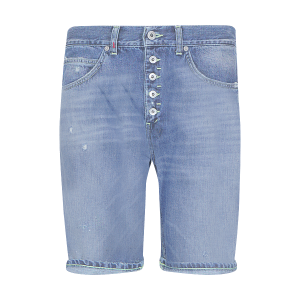 BERMUDA ROLLY DONDUP CON STRAPPI UP334 DENIM