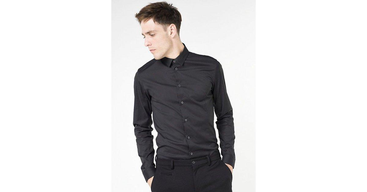 3c458dd33e -50% PATRIZIA PEPE CAMICIA STRETCH IN POPELINE DI COTONE BLACK | Outlet  Firme Uomo Abbigliamento | Shop Online: Boutique Irene & Mario