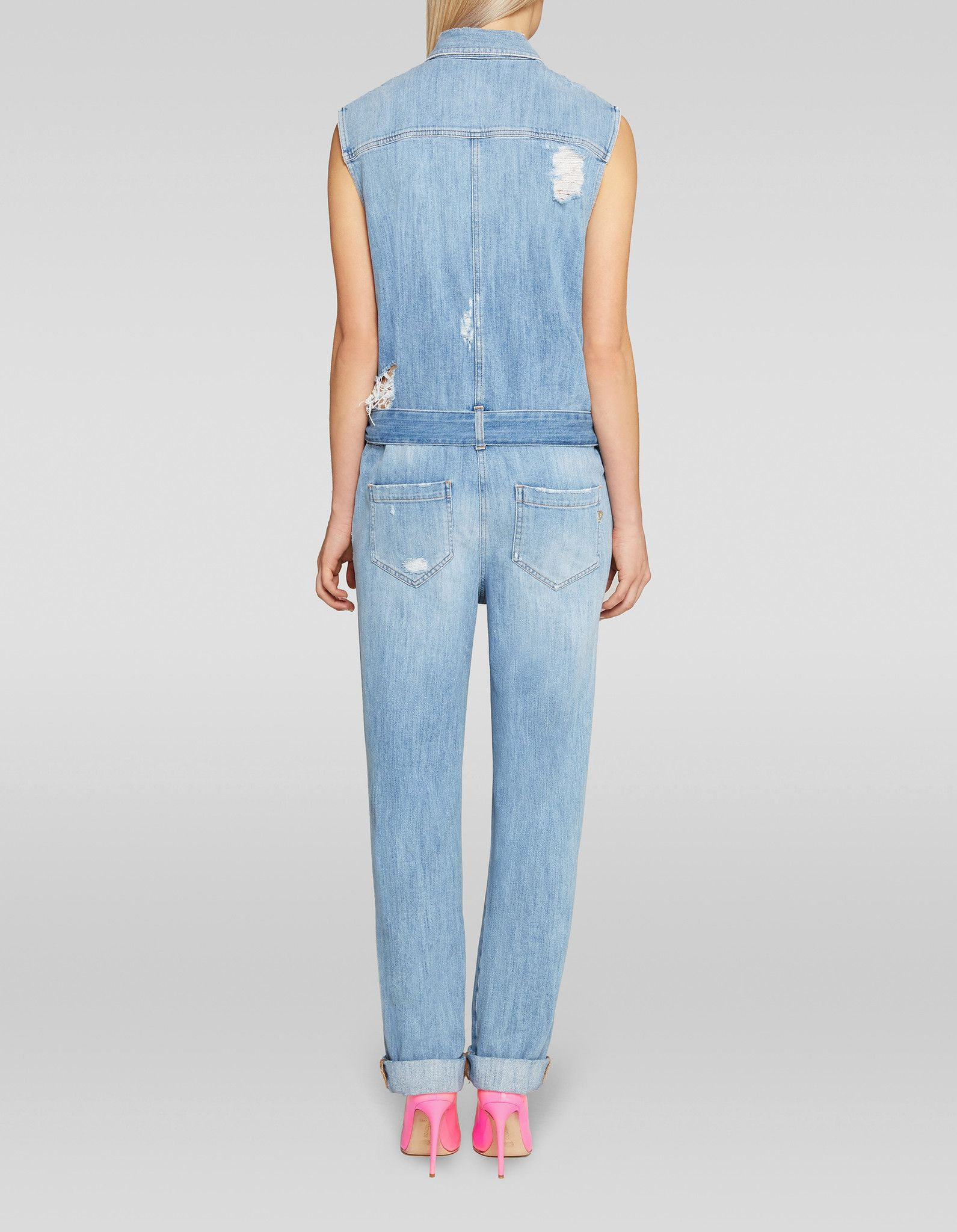 DONDUP JUMPSUIT IN DENIM STRETCH