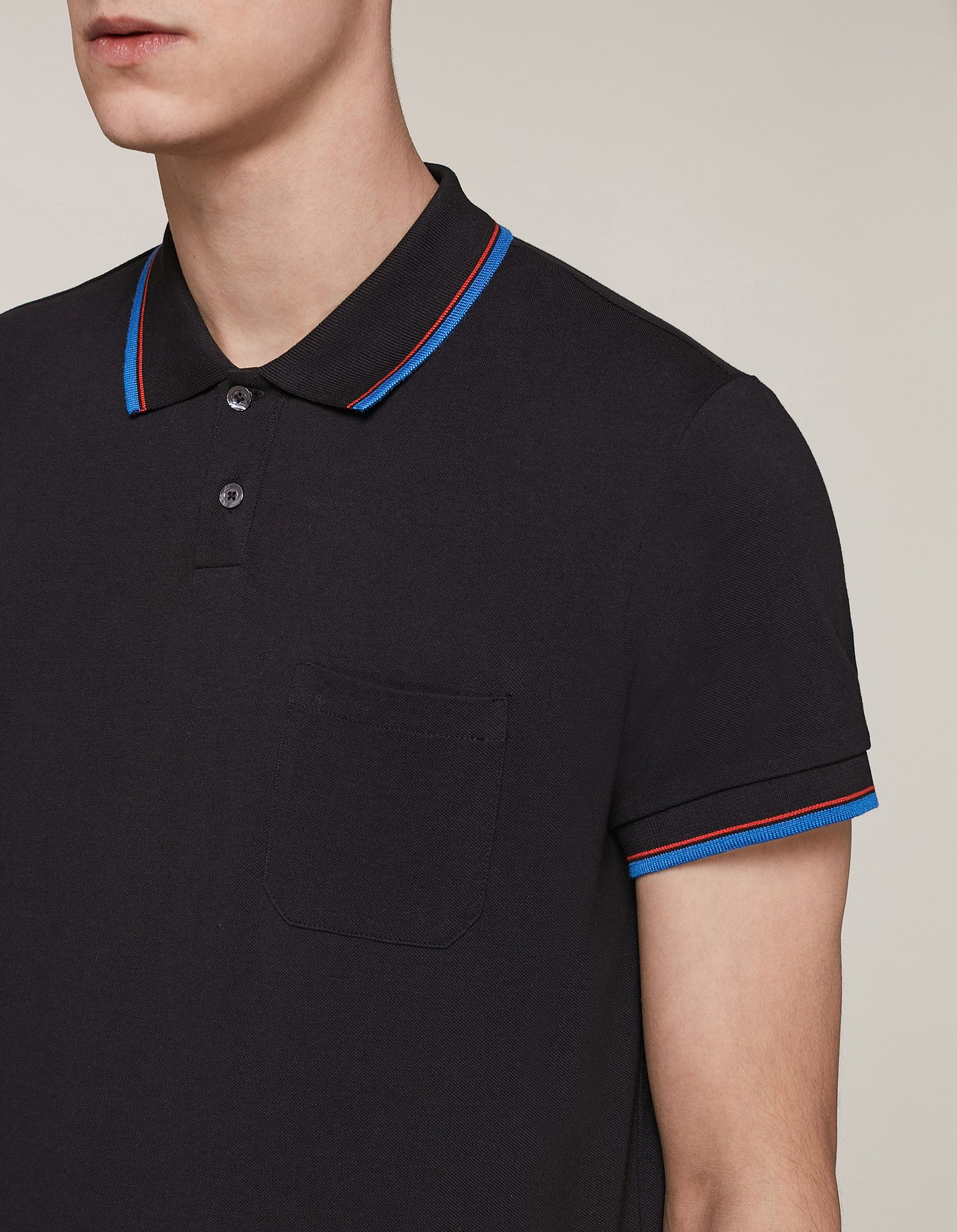 DONDUP T-SHIRT POLO IN PIQUE' DI COTONE BLU