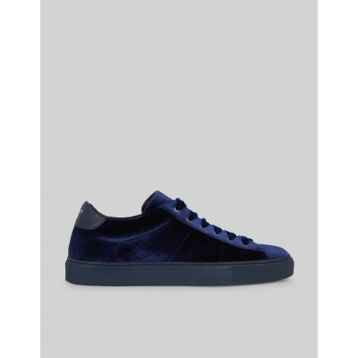 DONDUP SNEAKER IN PELLE BLUE