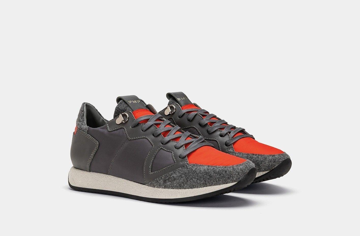 642b704192 -50% PHILIPPE MODEL MONACO TREKKING GRIS ROUGE | Outlet Firme Uomo Sneakers  | Shop Online: Boutique Irene & Mario