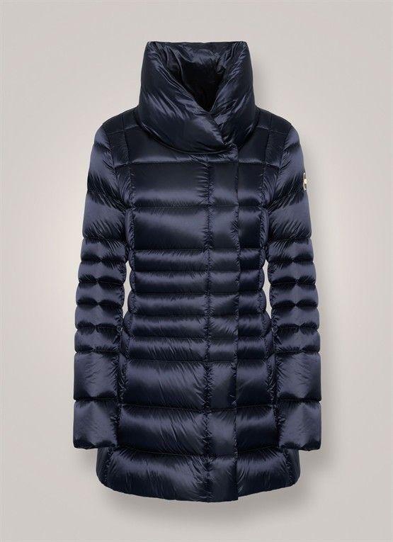 ef0d1adeef -50% COLMAR PIUMINO LUCIDO COLLO ALTO BLU | Outlet Firme Donna  Abbigliamento | Shop Online: Boutique Irene & Mario