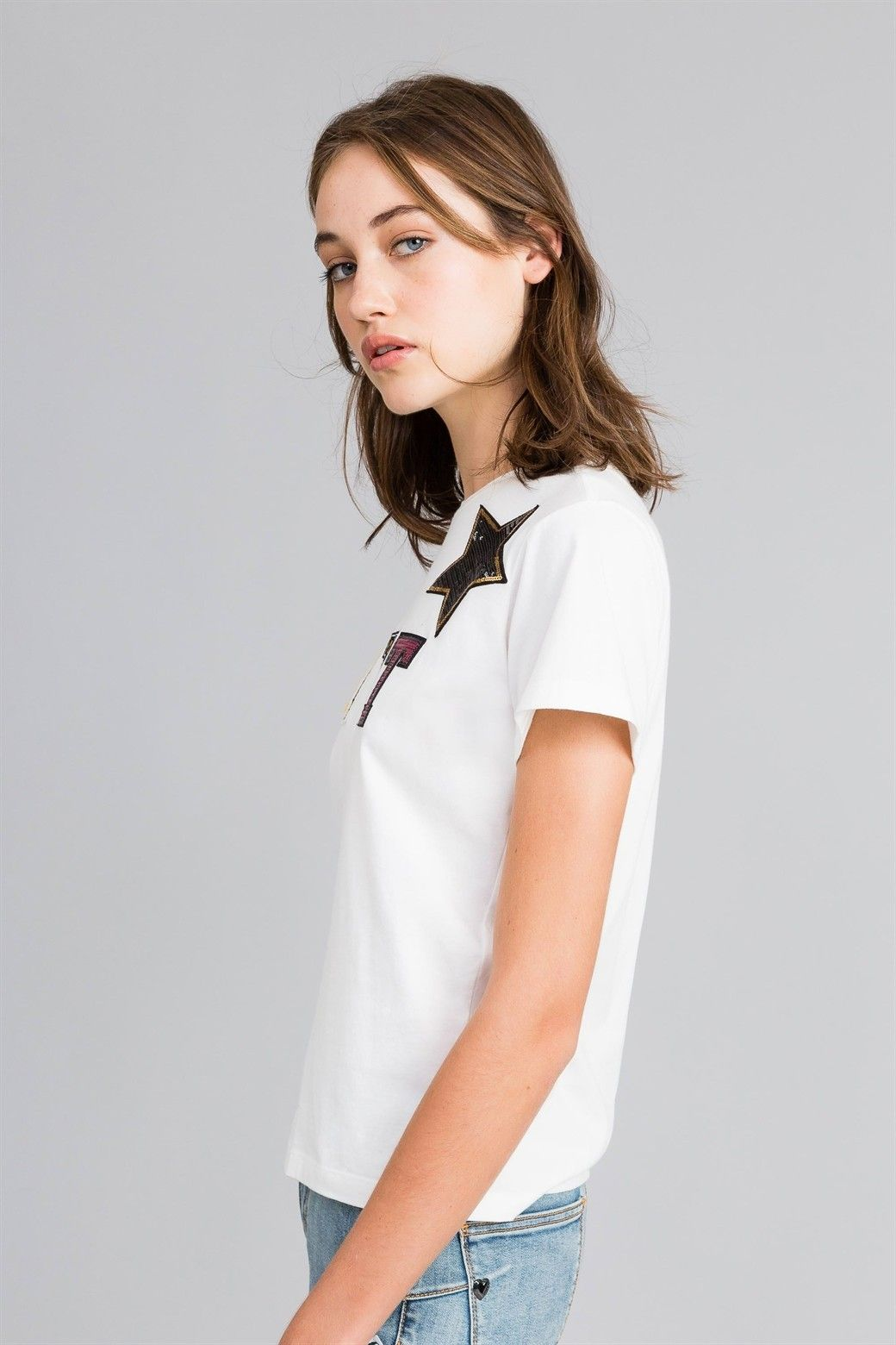 MYTWIN T-SHIRT IN COTONE CON LOGO PATCH