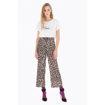DIXIE PANTALONE CROPPED ANIMAL PRINT