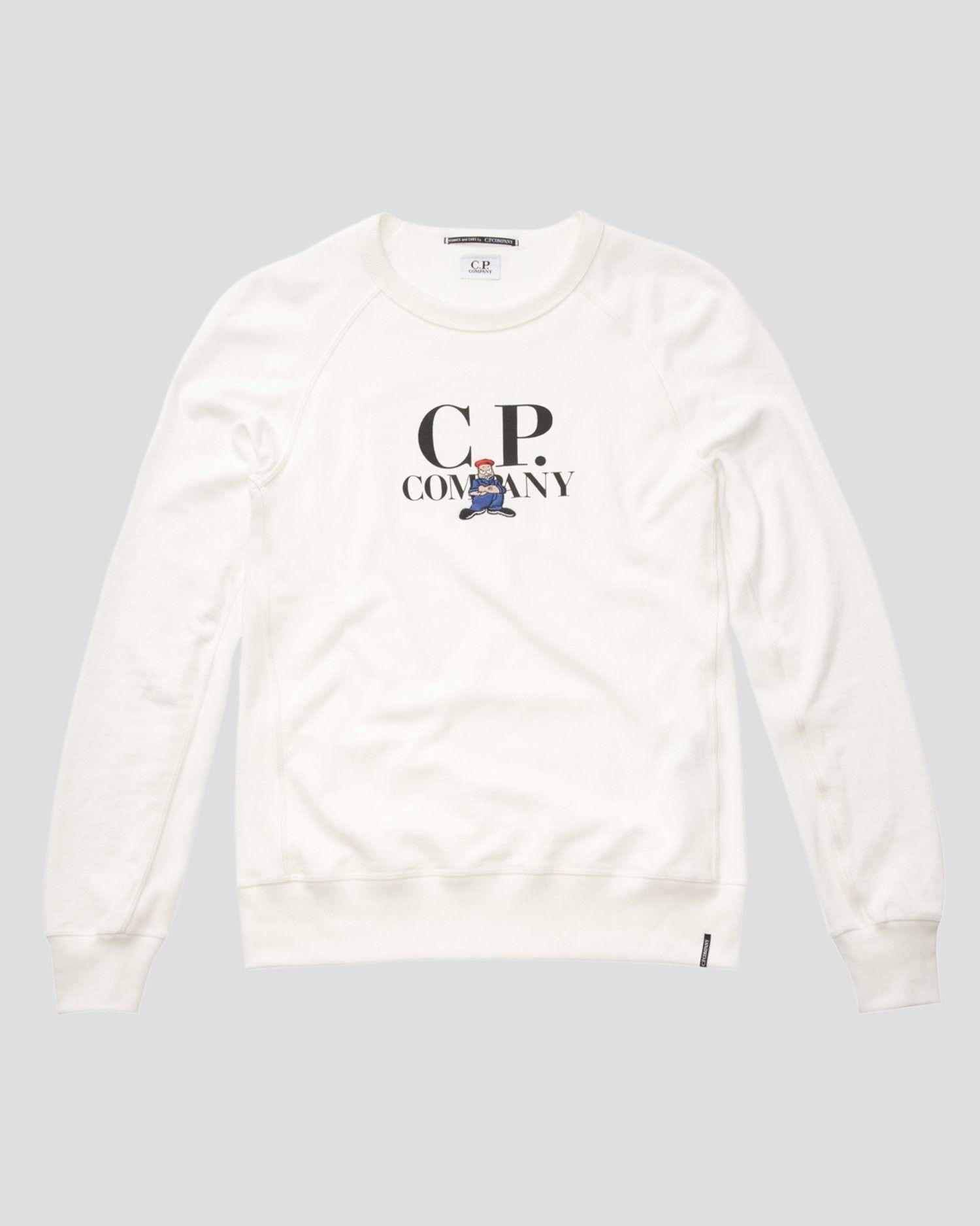 CP COMPANY FELPA CREW COMICS BIANCA