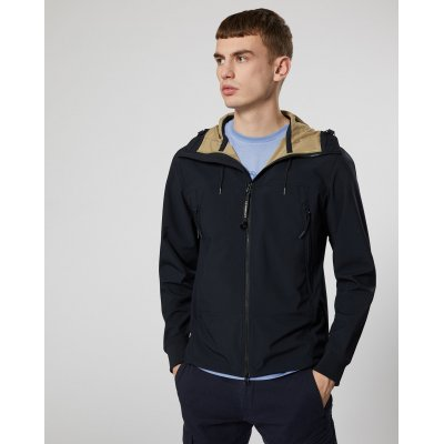 CP COMPANY SHORT GOOGLE JACKET DARK BLU