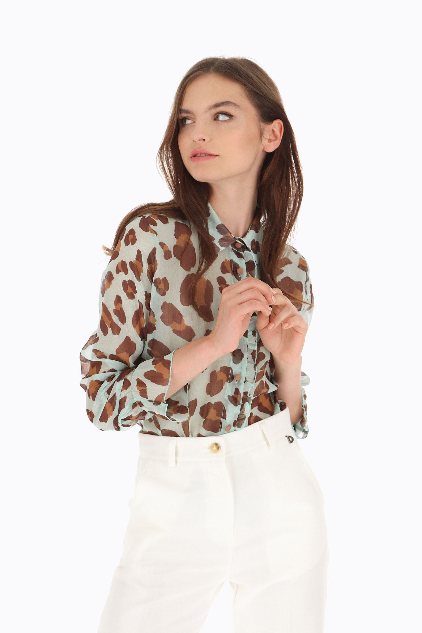 DIXIE CAMICIA ANIMAL PRINT ULTRALEGGERA