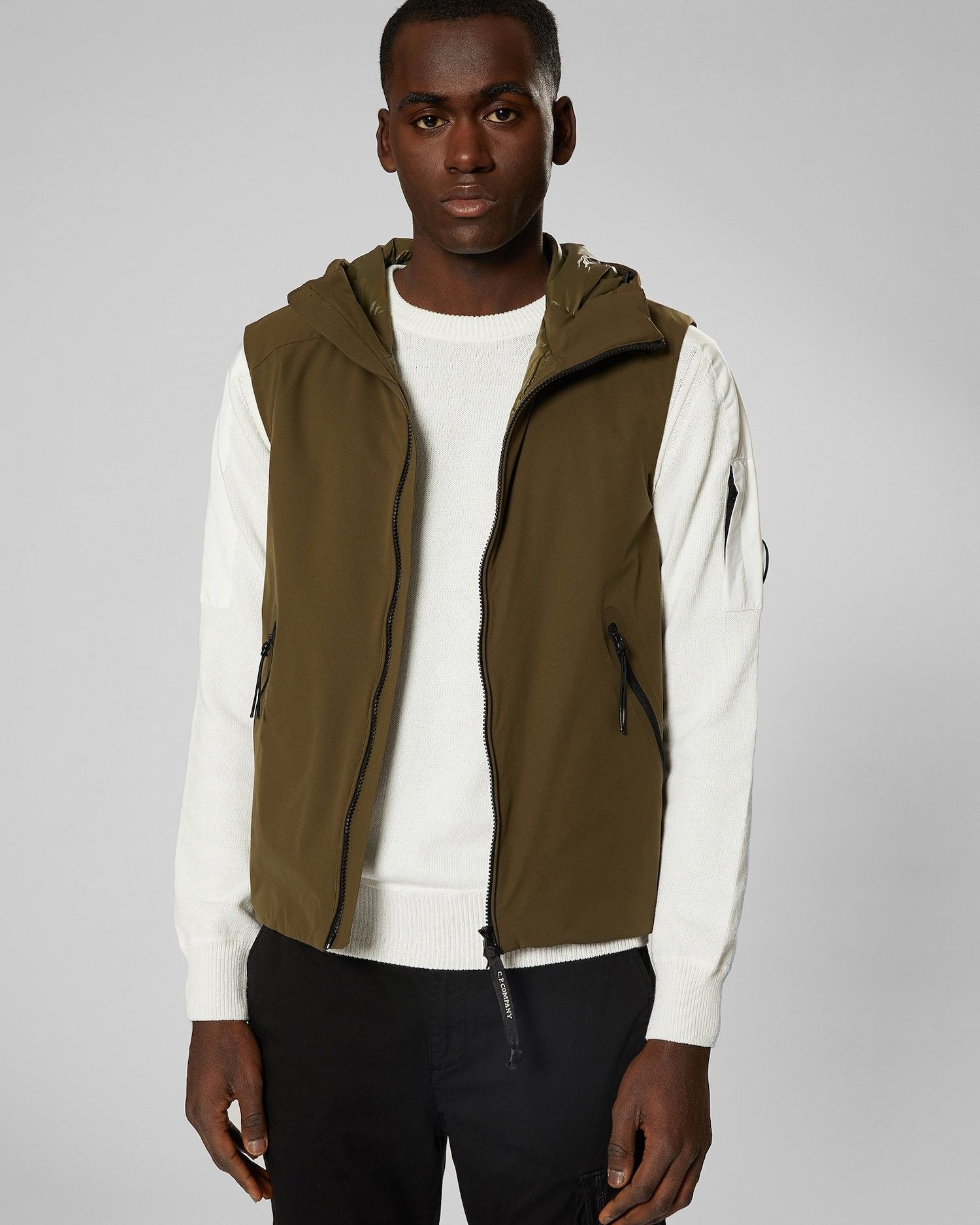 CP COMPANY GILET PRO TECK JUNGLE GREEN