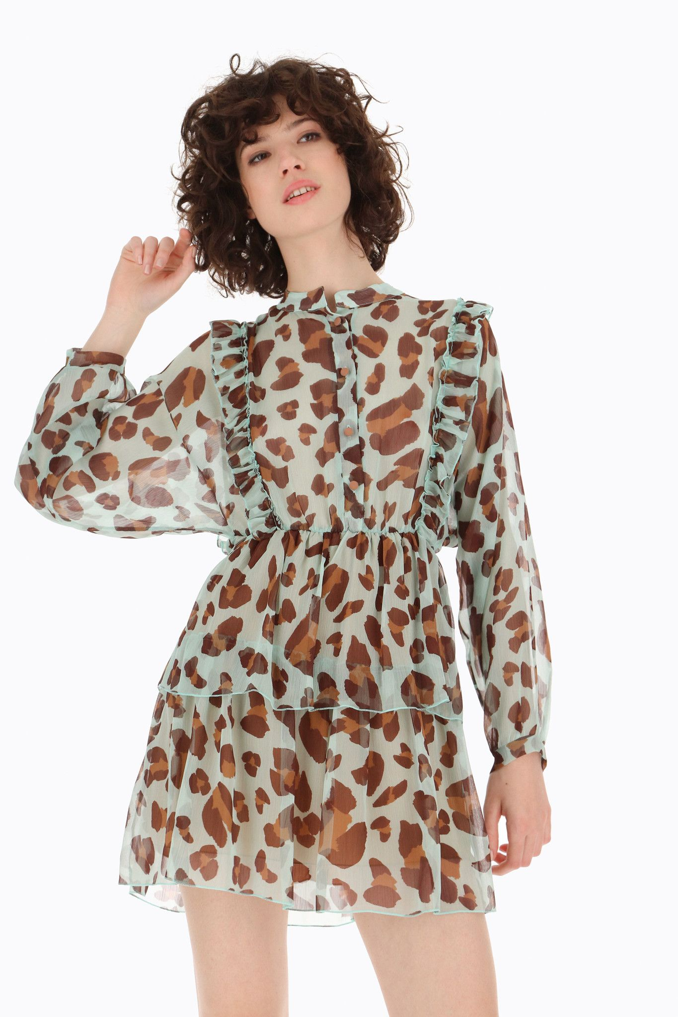 DIXIE ABITO ANIMAL PRINT ULTRALEGGERO A BALZE