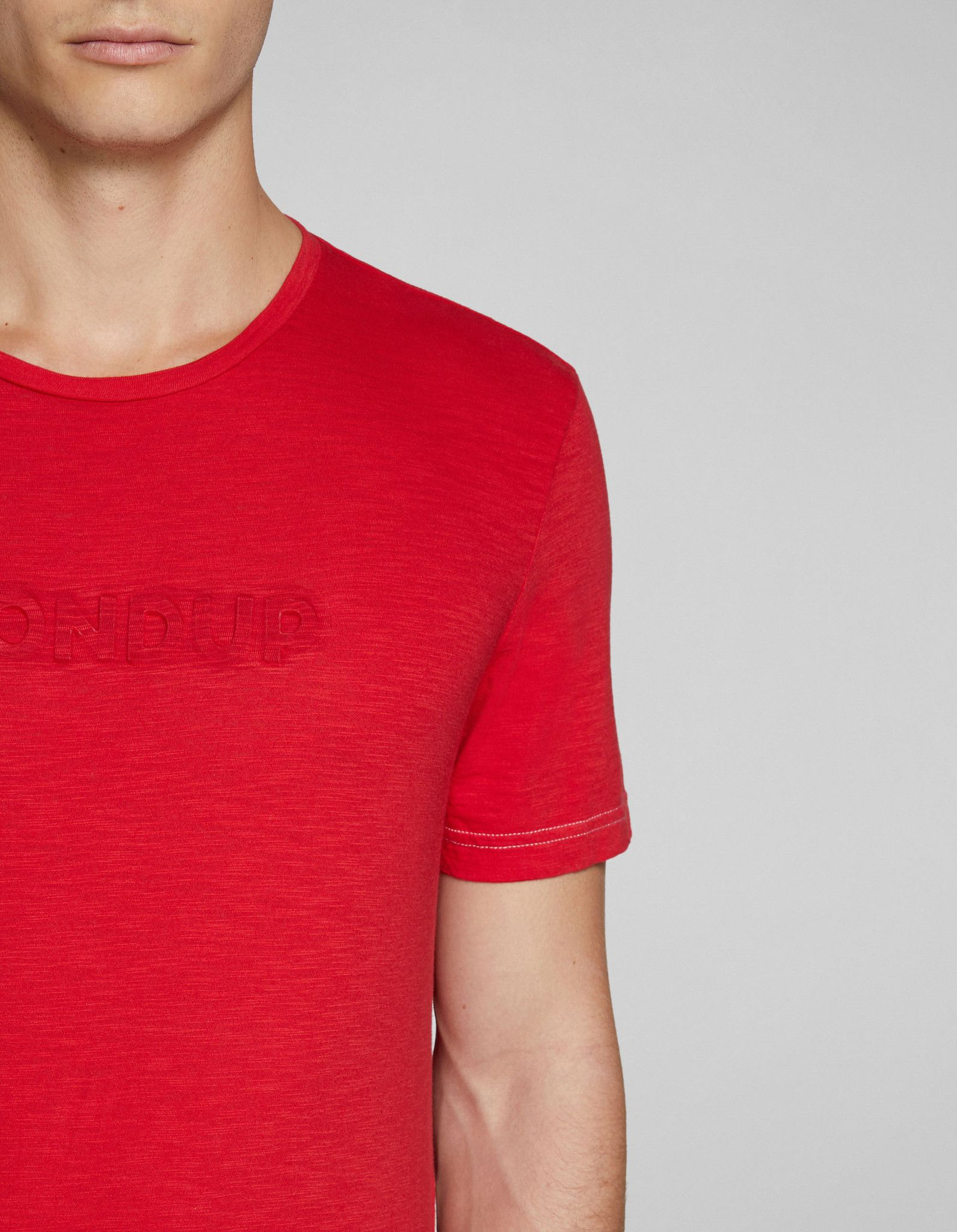 DONDUP T-SHIRT IN COTONE CON LOGO