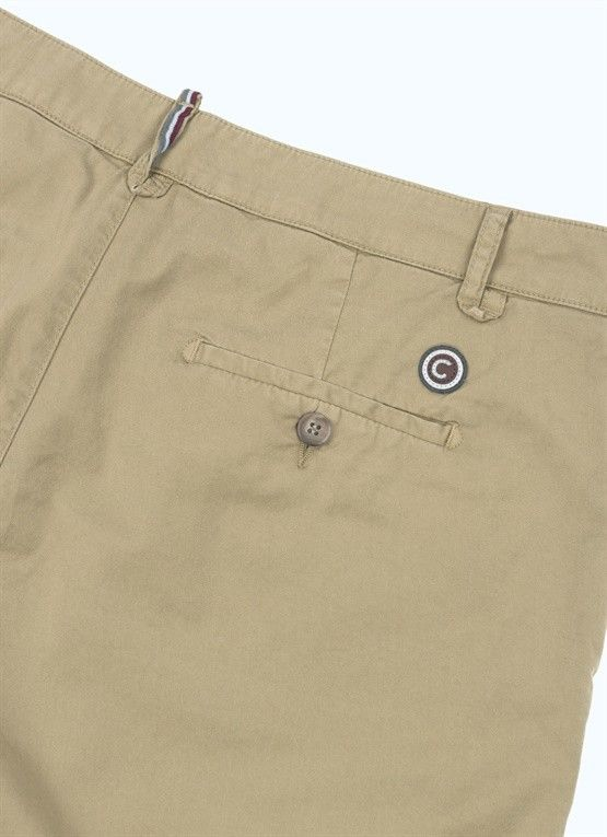 COLMAR BERMUDA BEIGE CON PINCES IN COTONE STRETCH