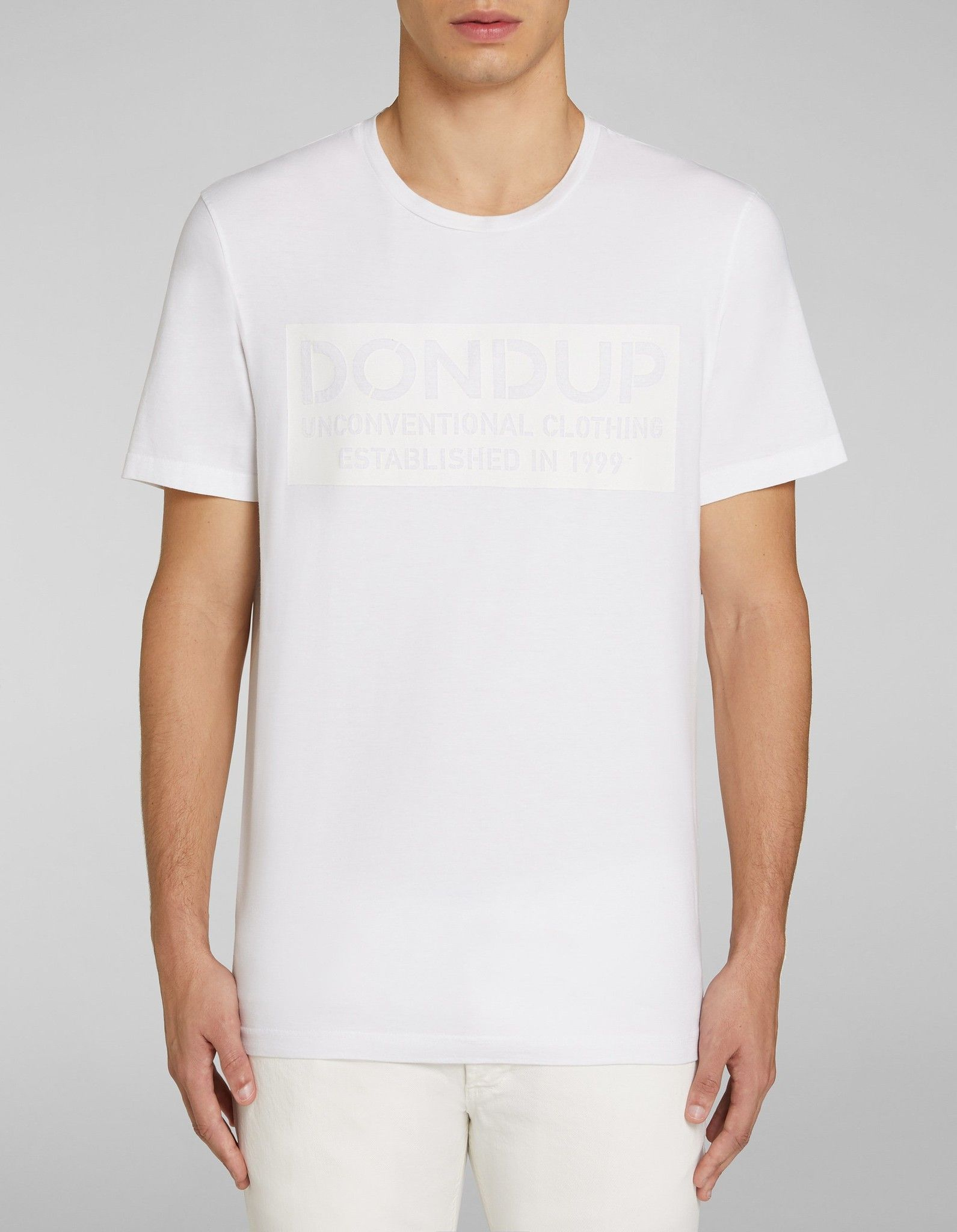 DONDUP T SHIRT IN COTONE CON STAMPA
