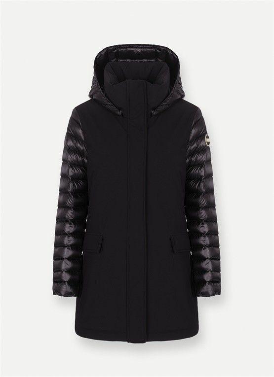 40% COLMAR GIACCA BITESSUTO NERA | Outlet Firme Donna Abbigliamento | Shop Online: Boutique Irene & Mario