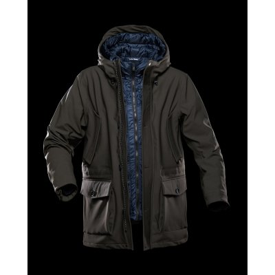 SHIBUYA PARKA IN LAMINAR INTERNO REMOVIBILE JUNGLE GREEN