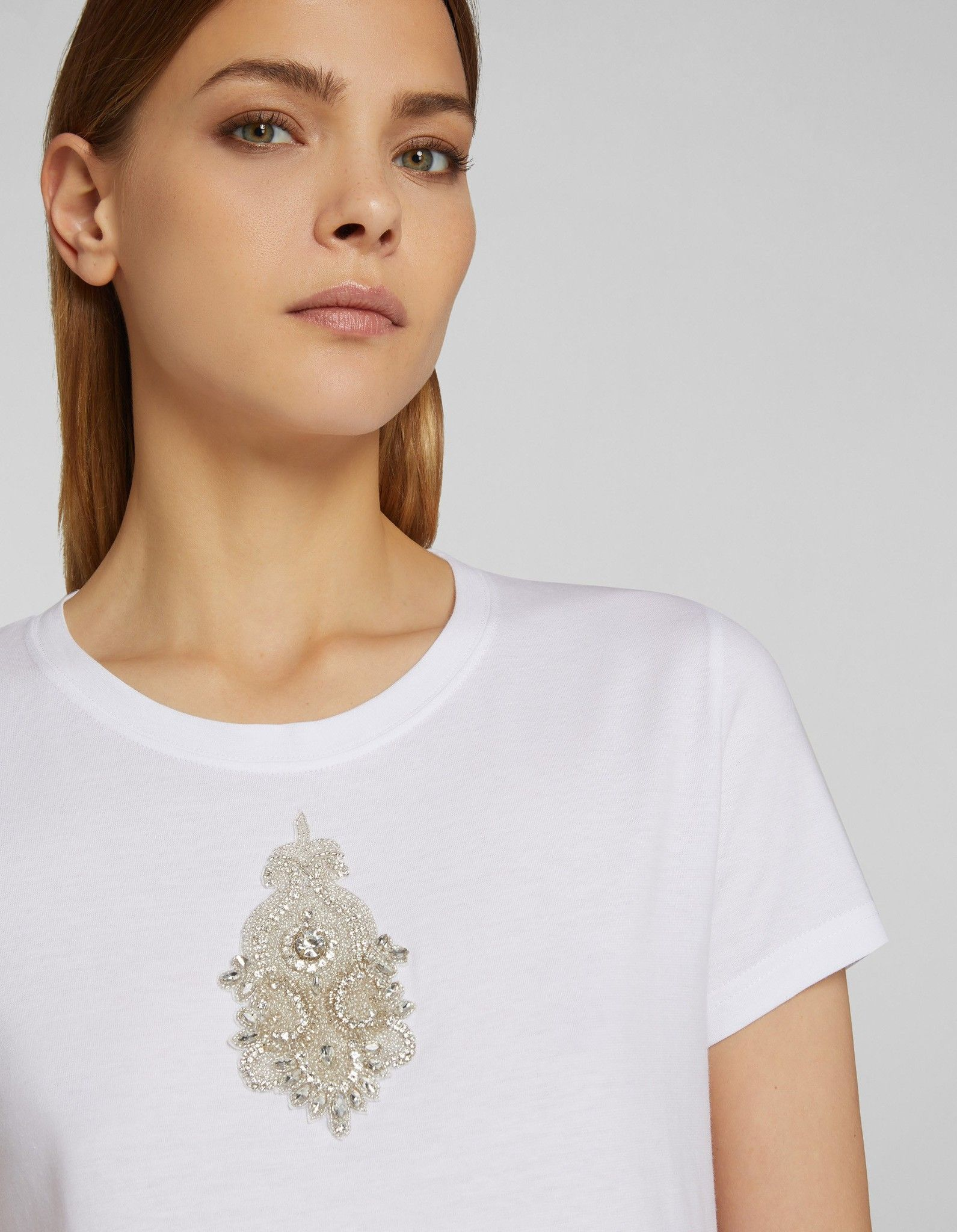 DONDUP T-SHIRT CON PATCH