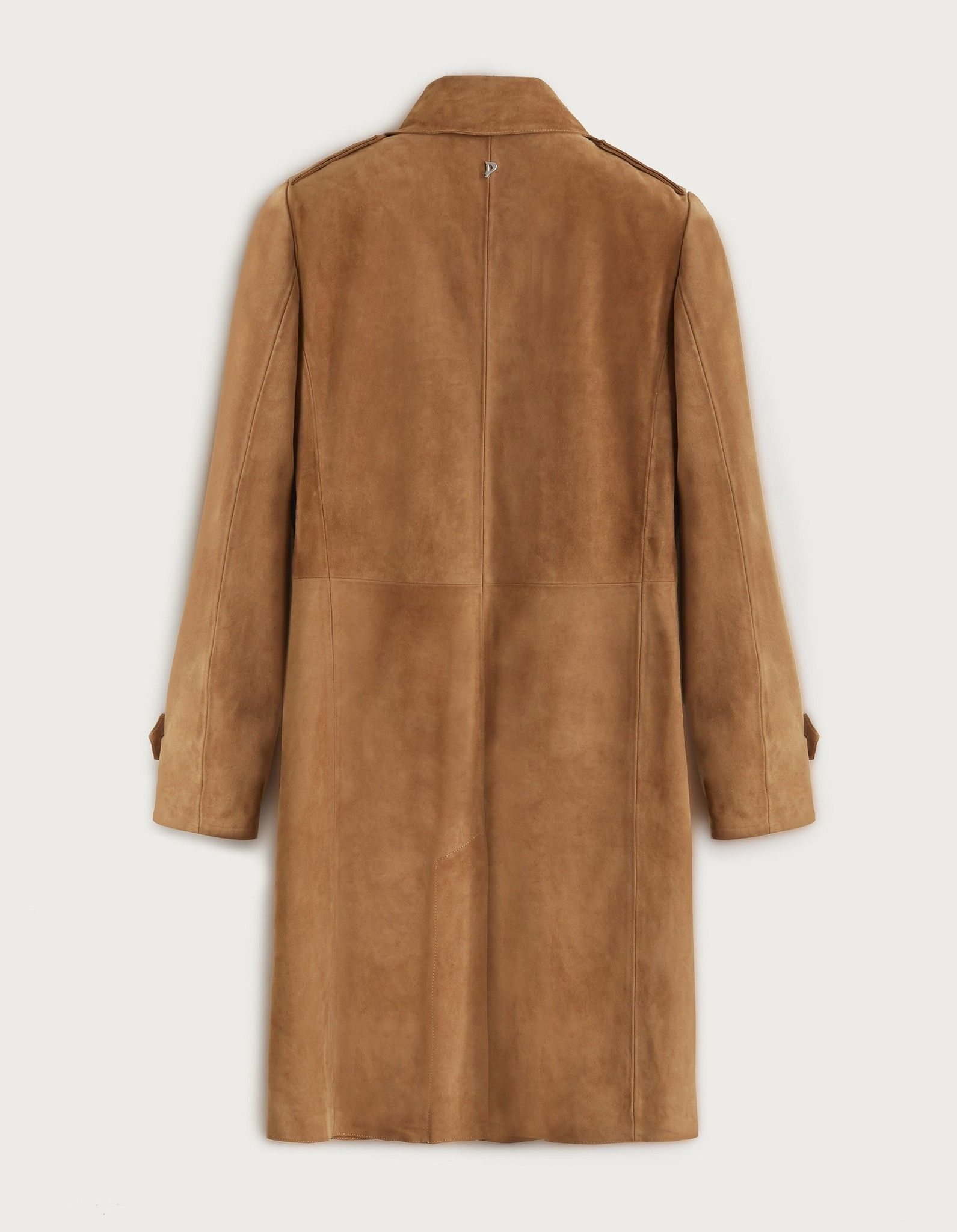 DONDUP TRENCH IN PELLE SCAMOSCIATA