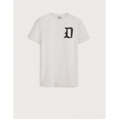 DONDUP T SHIRT BIANCA IN COTONE CON STAMPA