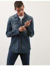 DONDUP CAMICIA IN DENIM USED