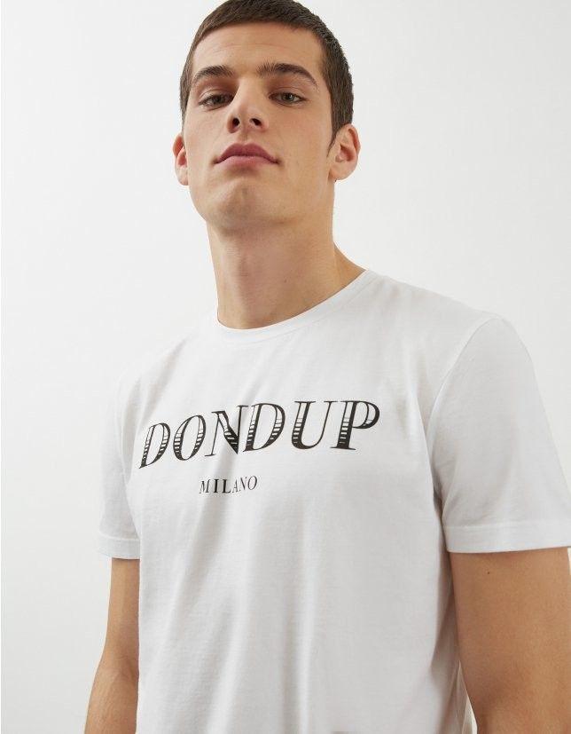 DONDUP T SHIRT BIANCA IN COTONE CON LOGO
