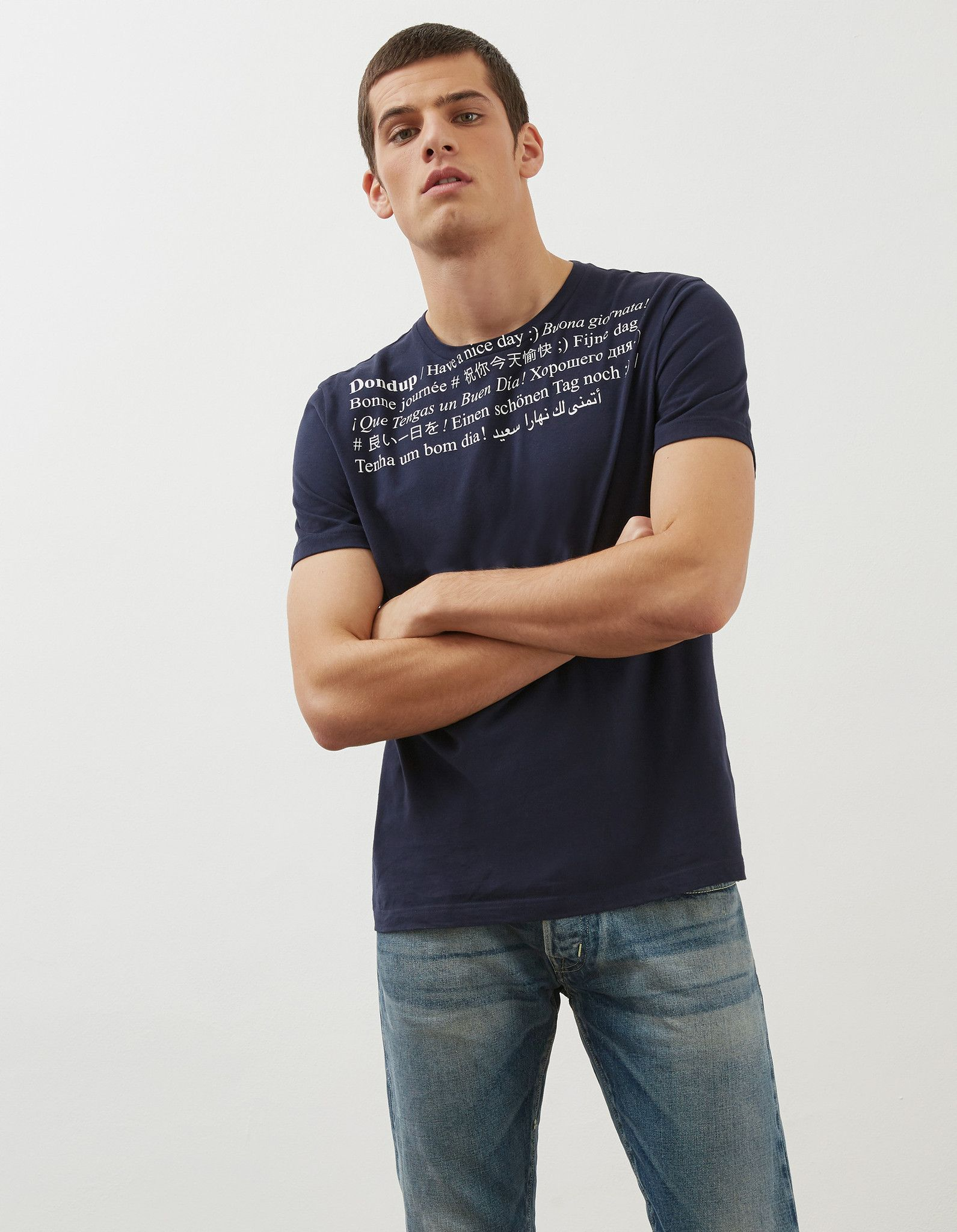 DONDUP TSHIRT IN  COTONE CON LETTERING