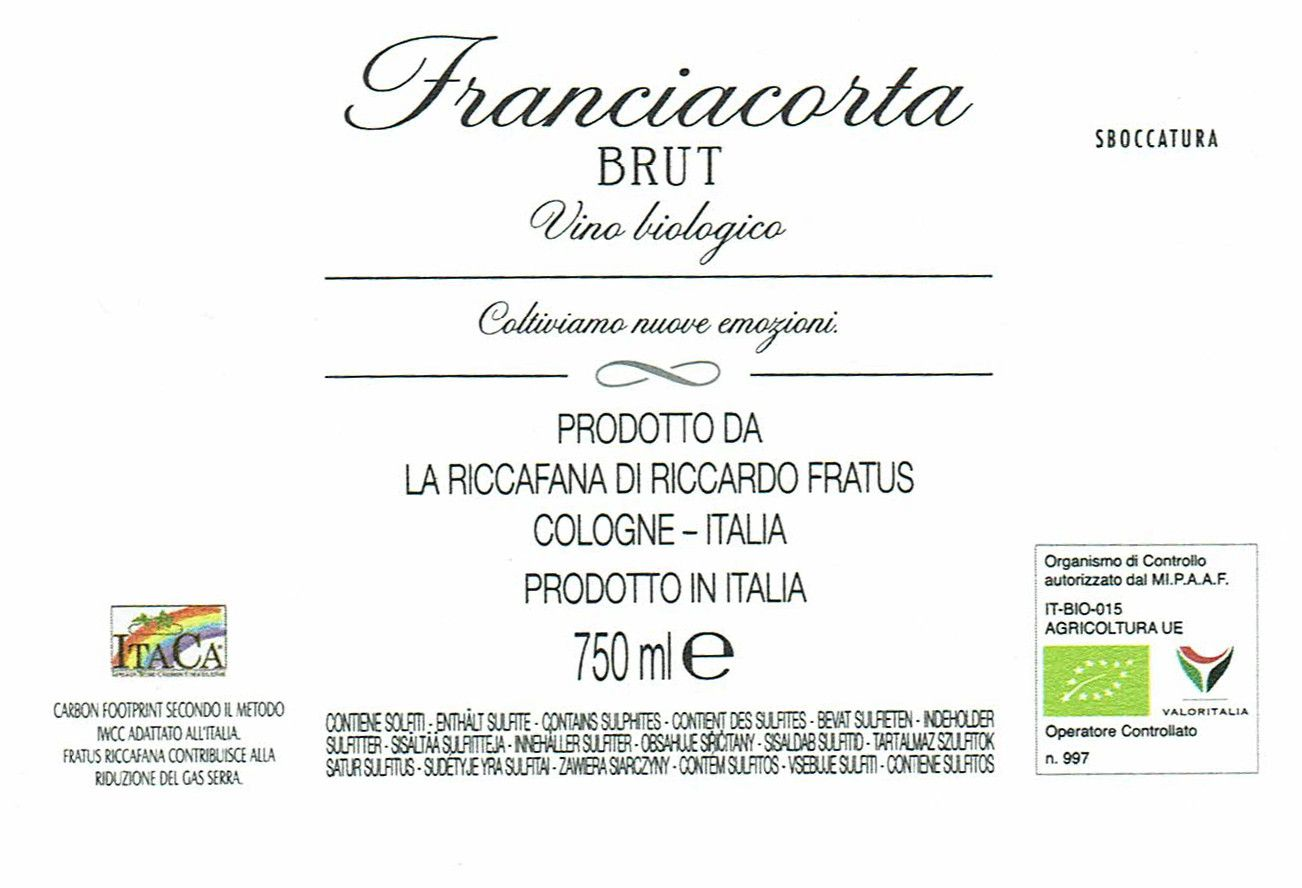 Riccafana Franciacorta DOCG Brut Bio