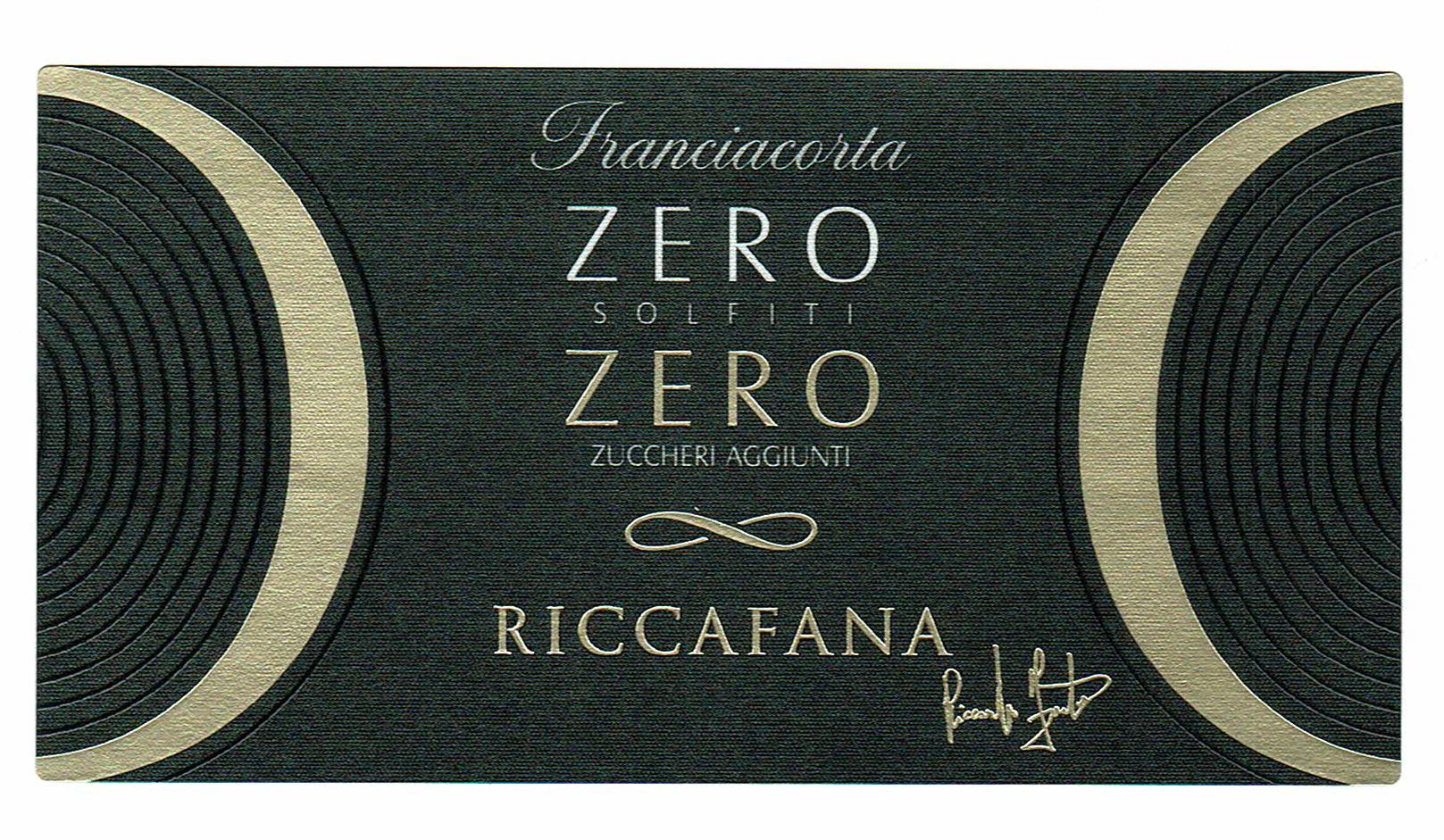 Riccafana Zero Zero Dosaggio Zero Senza Solfiti Bio