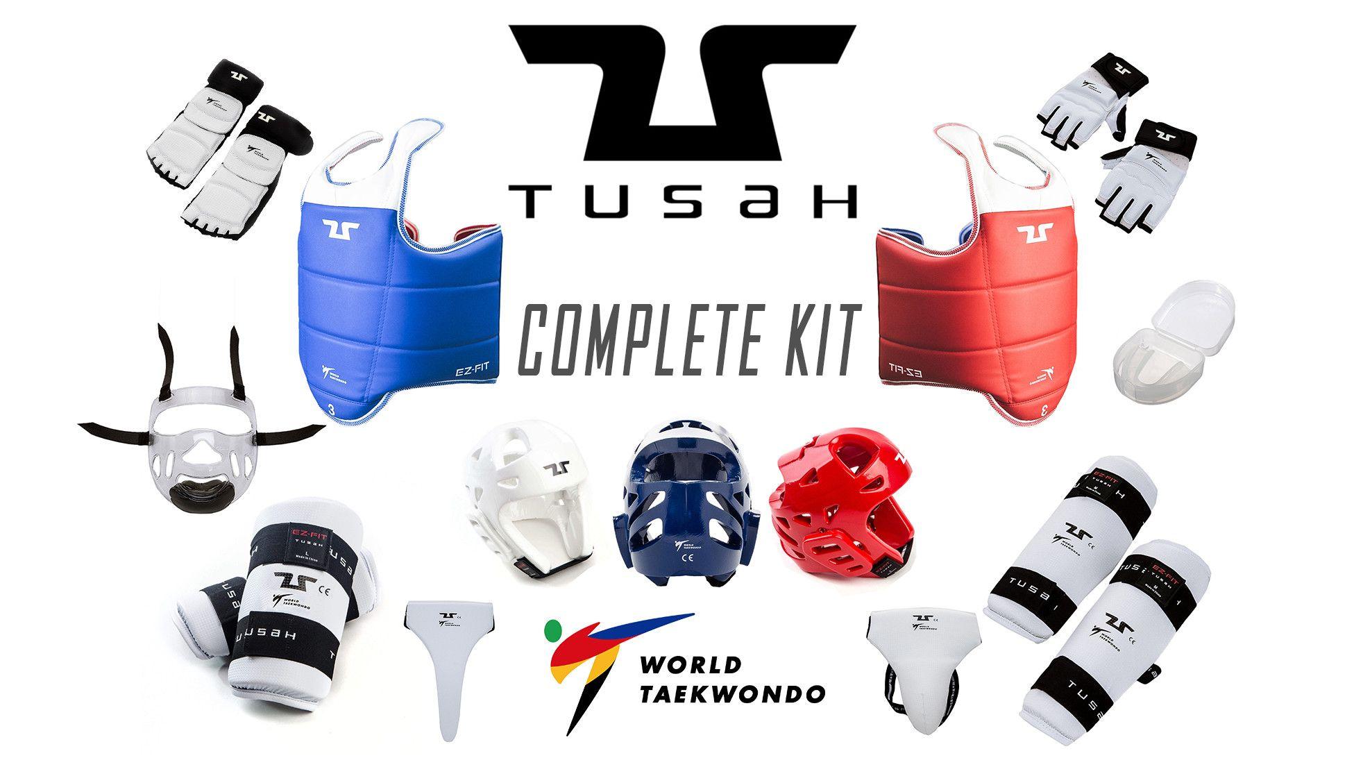 KIT Offerta Protezioni per Taekwondo Tusah Completo Omologato WT WTF