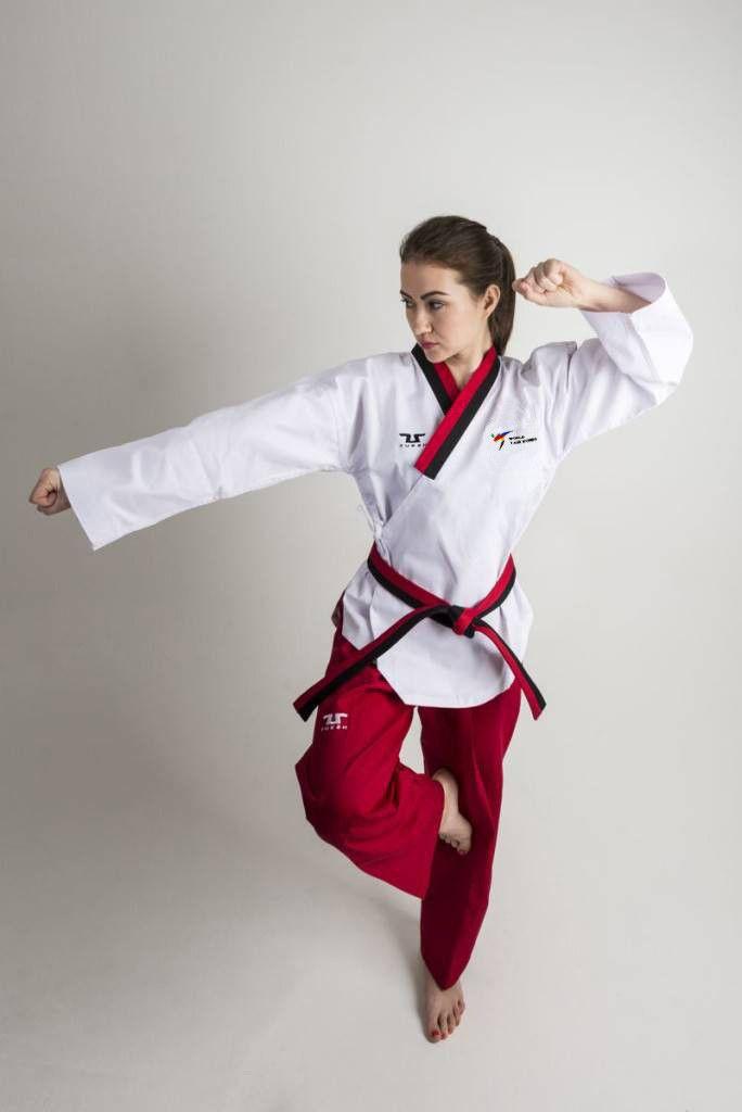 Tusah - Poomsae Easyfit Poom Femminile per Taekwondo Omologato WT per forme e competizioni