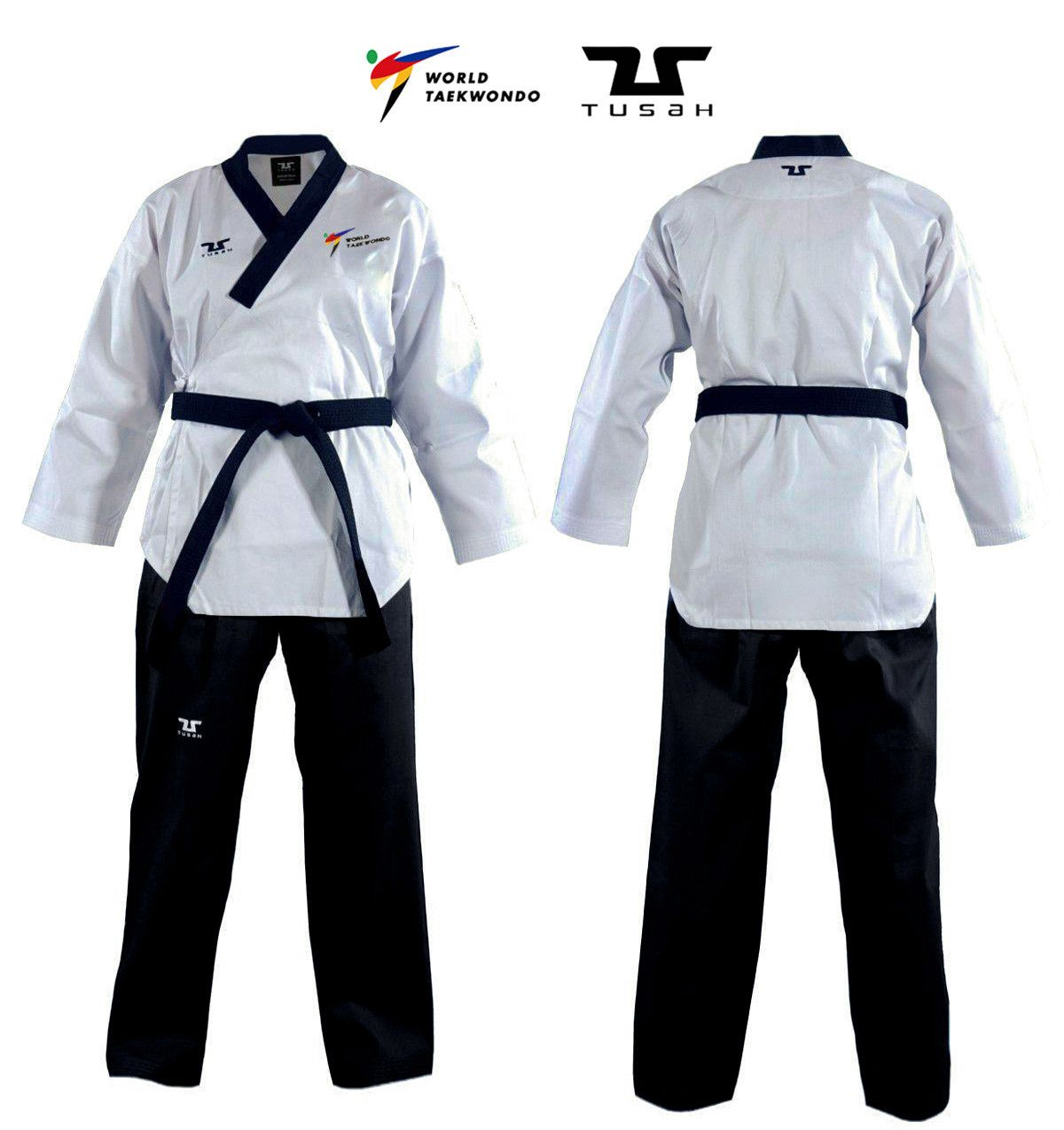 Poomsae Easyfit Dan Maschile Tusah per Taekwondo Omologato WT per forme e competizioni