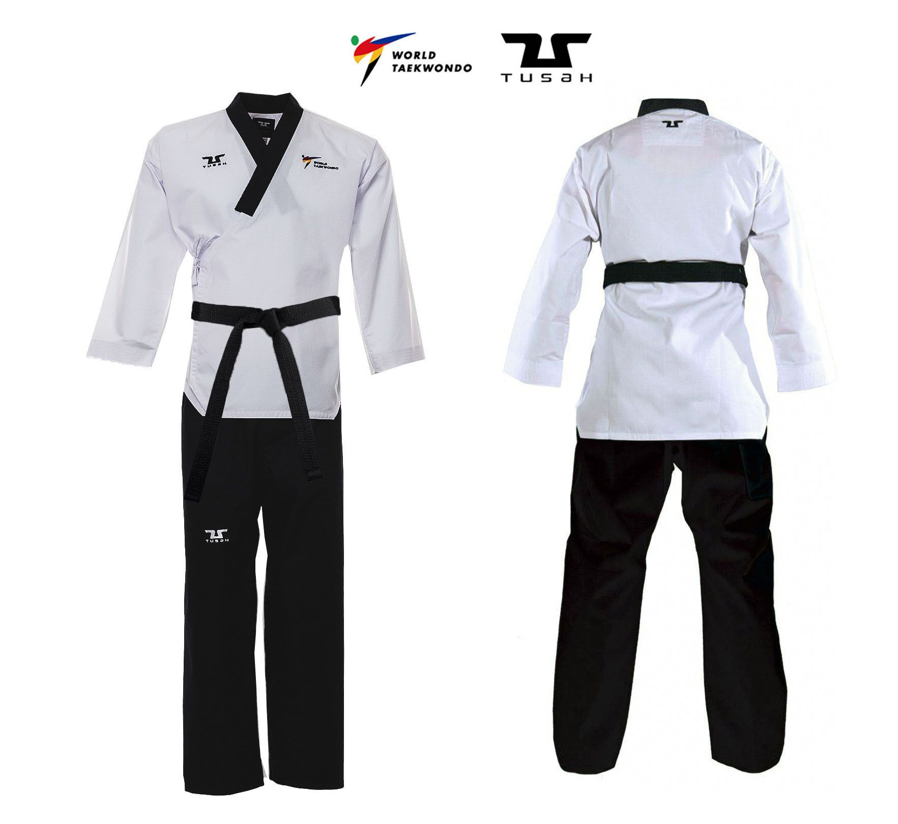 Poomsae Professional Maschile Tusah per Taekwondo Omologato WT Made in Korea per forme e competizioni