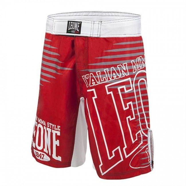 Leone - Pantaloncino per MMA Rosso AB770