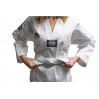 Top Pro - Dobok per Taekwondo Top Combat collo bianco con Ricamo su schiena
