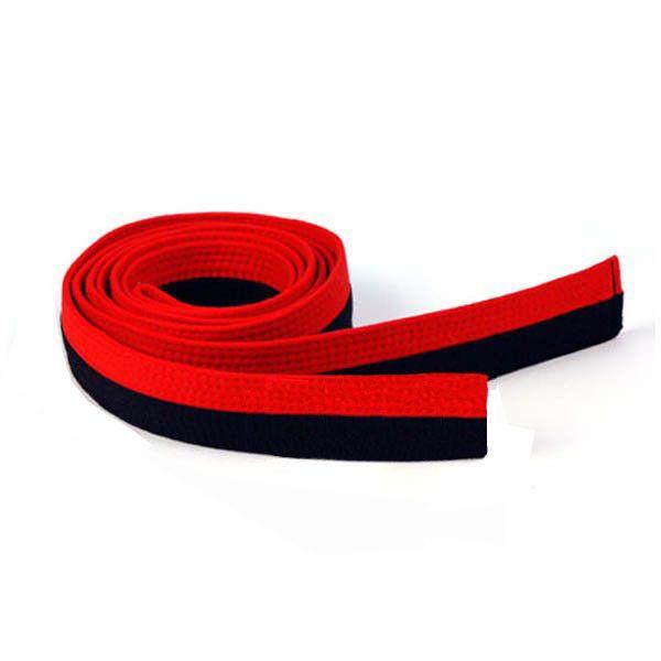 Adidas - Cintura Poom Rosso/Nera 4,5 cm 100% Cotone rinforzata