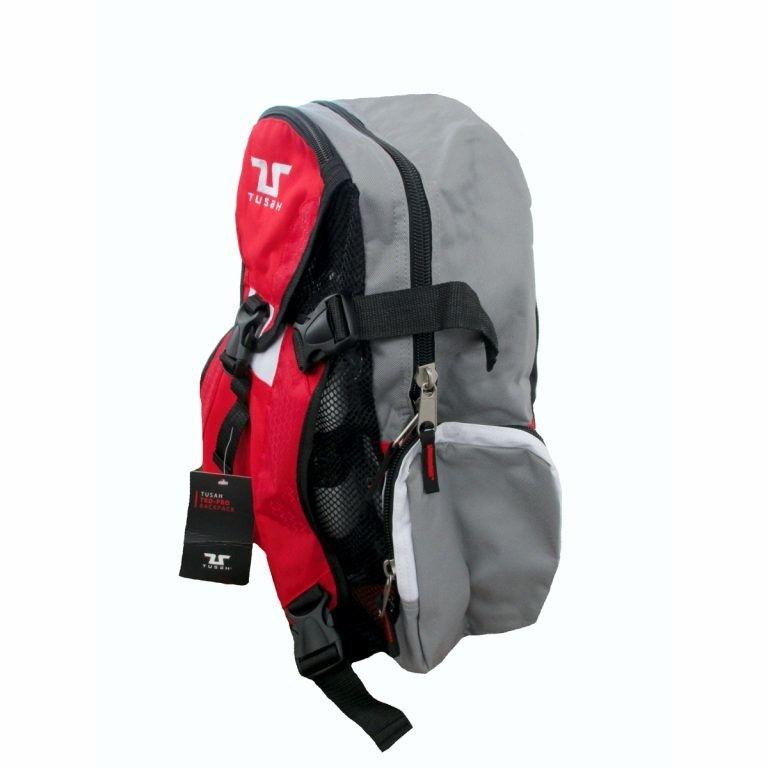 Tusah - Zaino per Taekwondo Pro-Back Pack con porta Corazza esterno per Arti Marziali