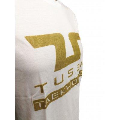 T-Shirt Taekwondo Tusah Gold Bianca 100% Cotone WT WTF