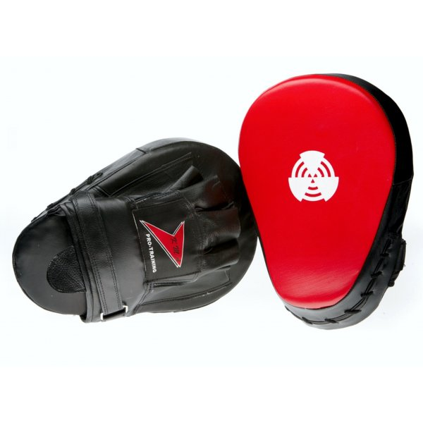 Master - Guanti da passata Curved in pelle per allenamenti di Taekwondo, Karate, Boxe, Kickboxe, calci e pugni