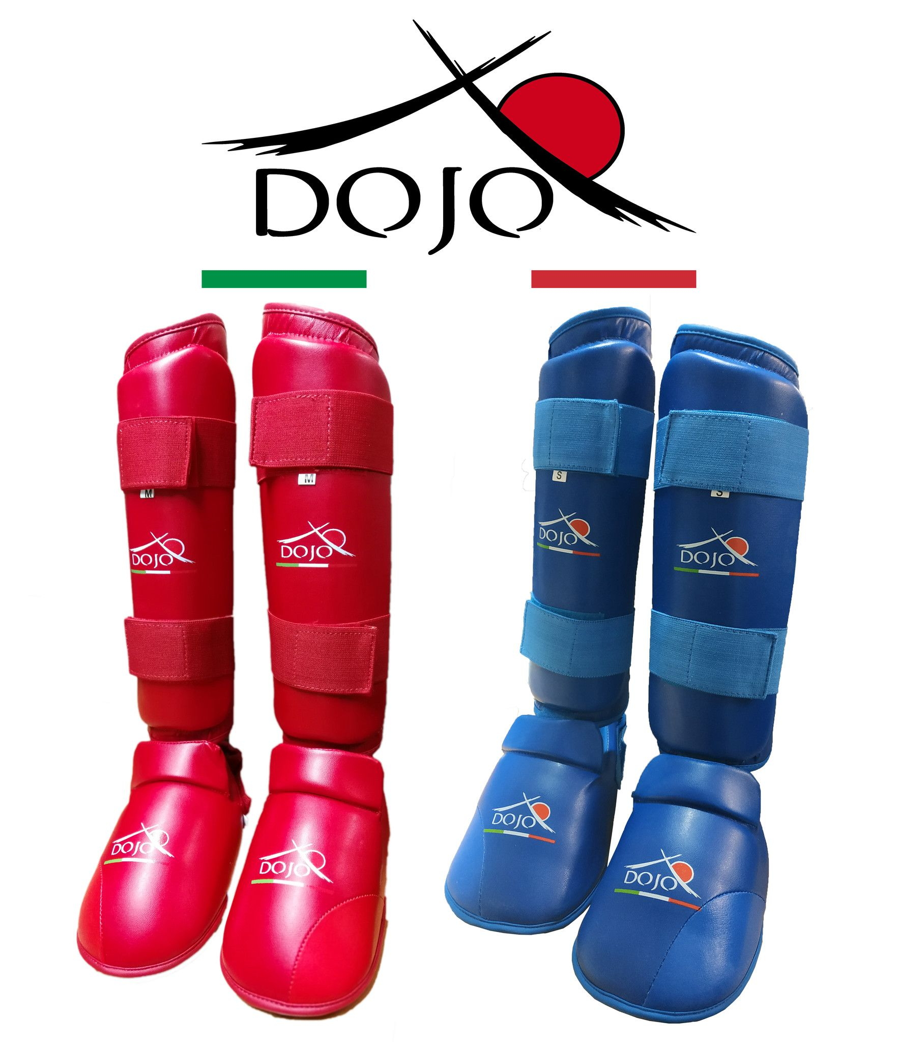 Dojo - Paratibia per Karate con piede Blu Training