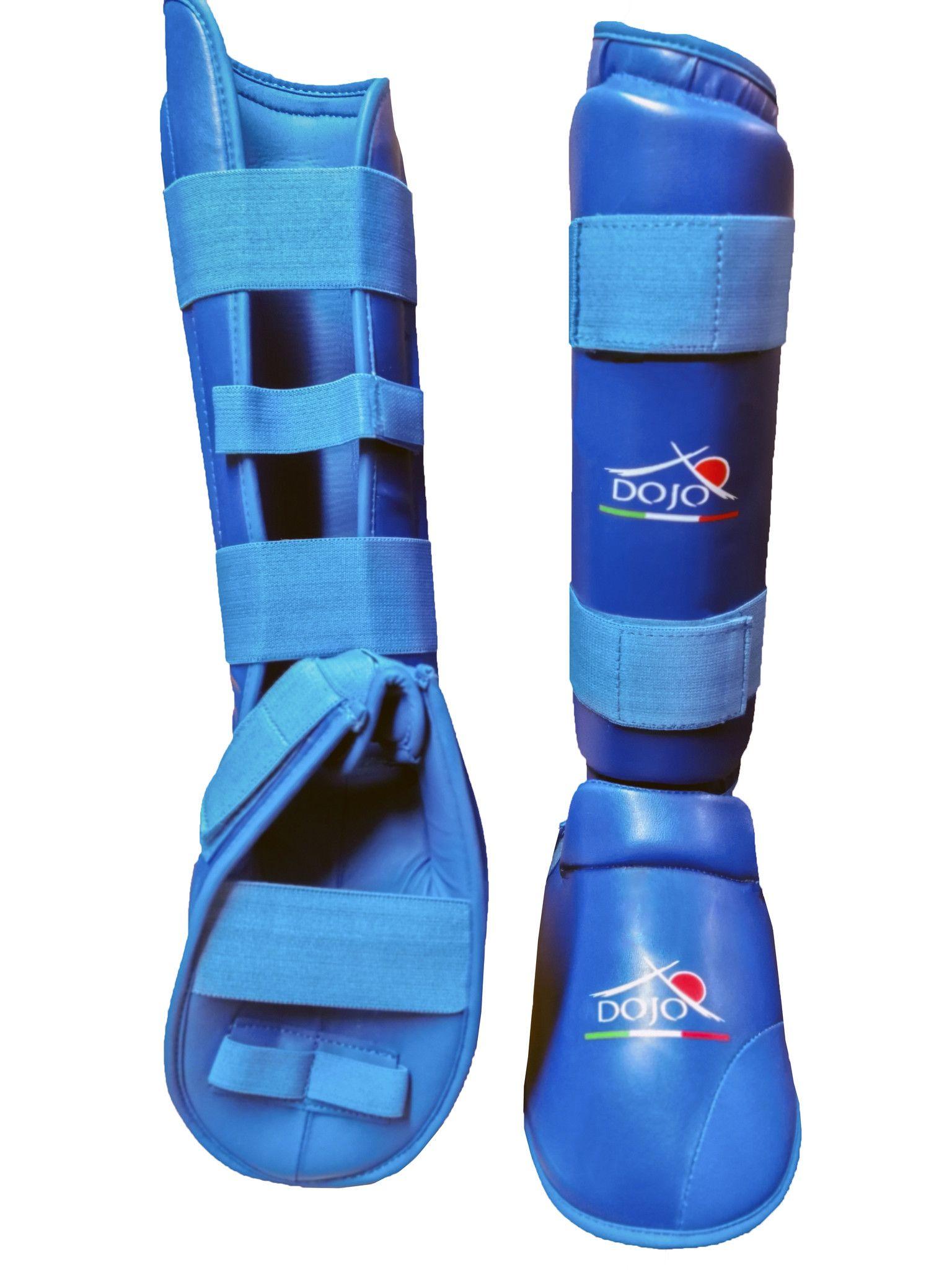 Dojo - Paratibia per Karate con piede Blu Training