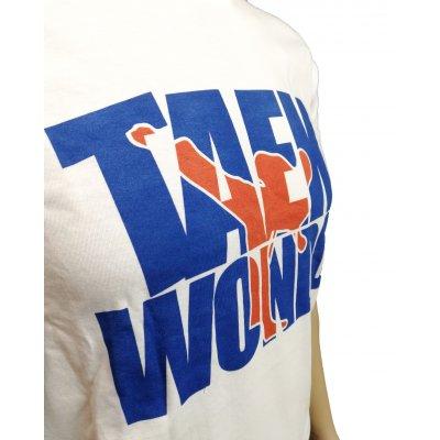 T-shirt scritta Taekwondo Blu