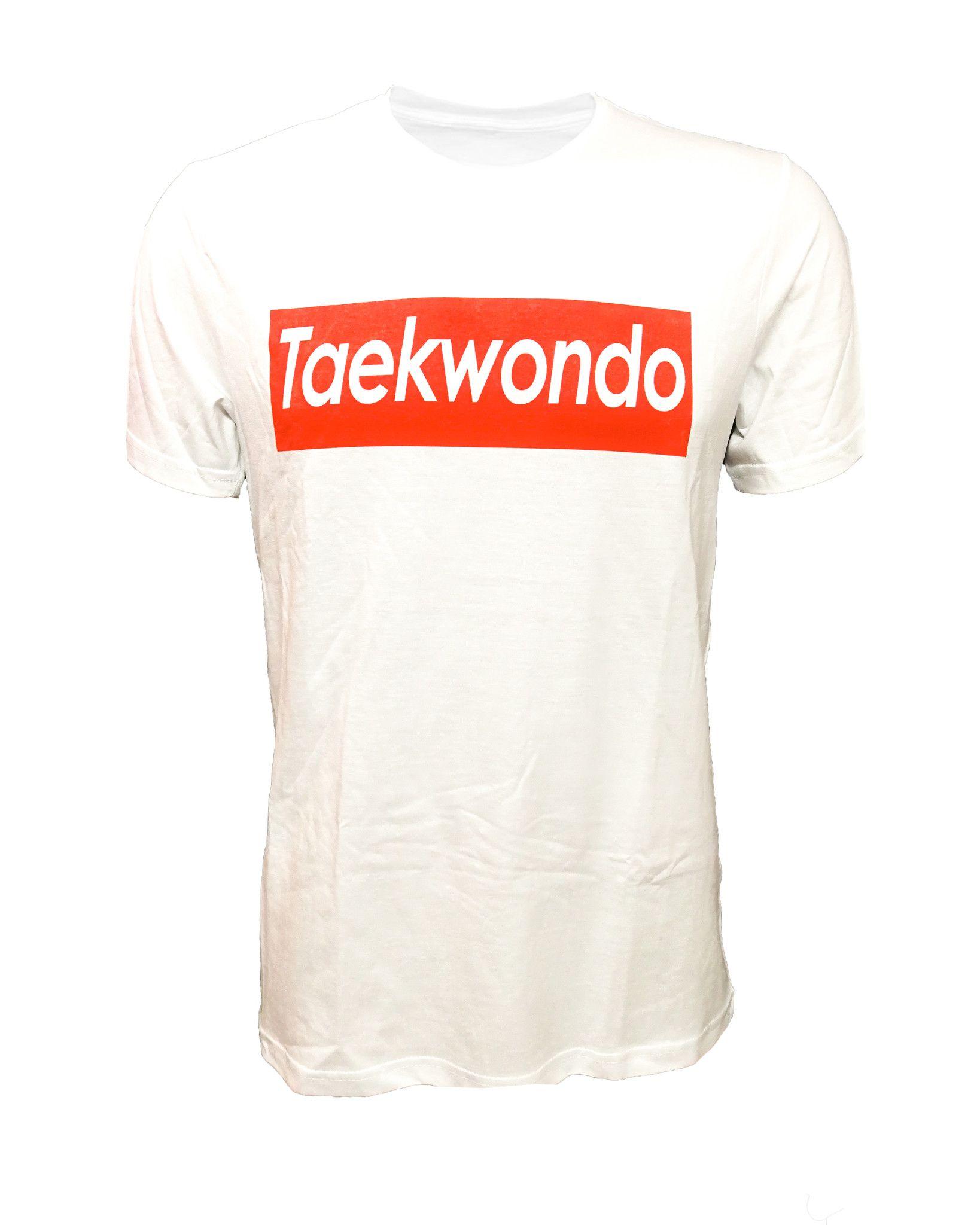 "T-shirt Taekwondo stile ""Supreme"" 100% cotone"