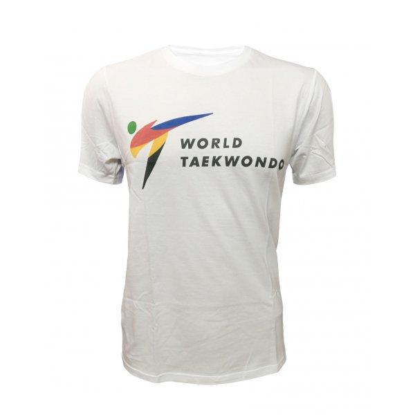 T-Shirt Taekwondo Tusah World Taekwondo 100% Cotone WT WTF