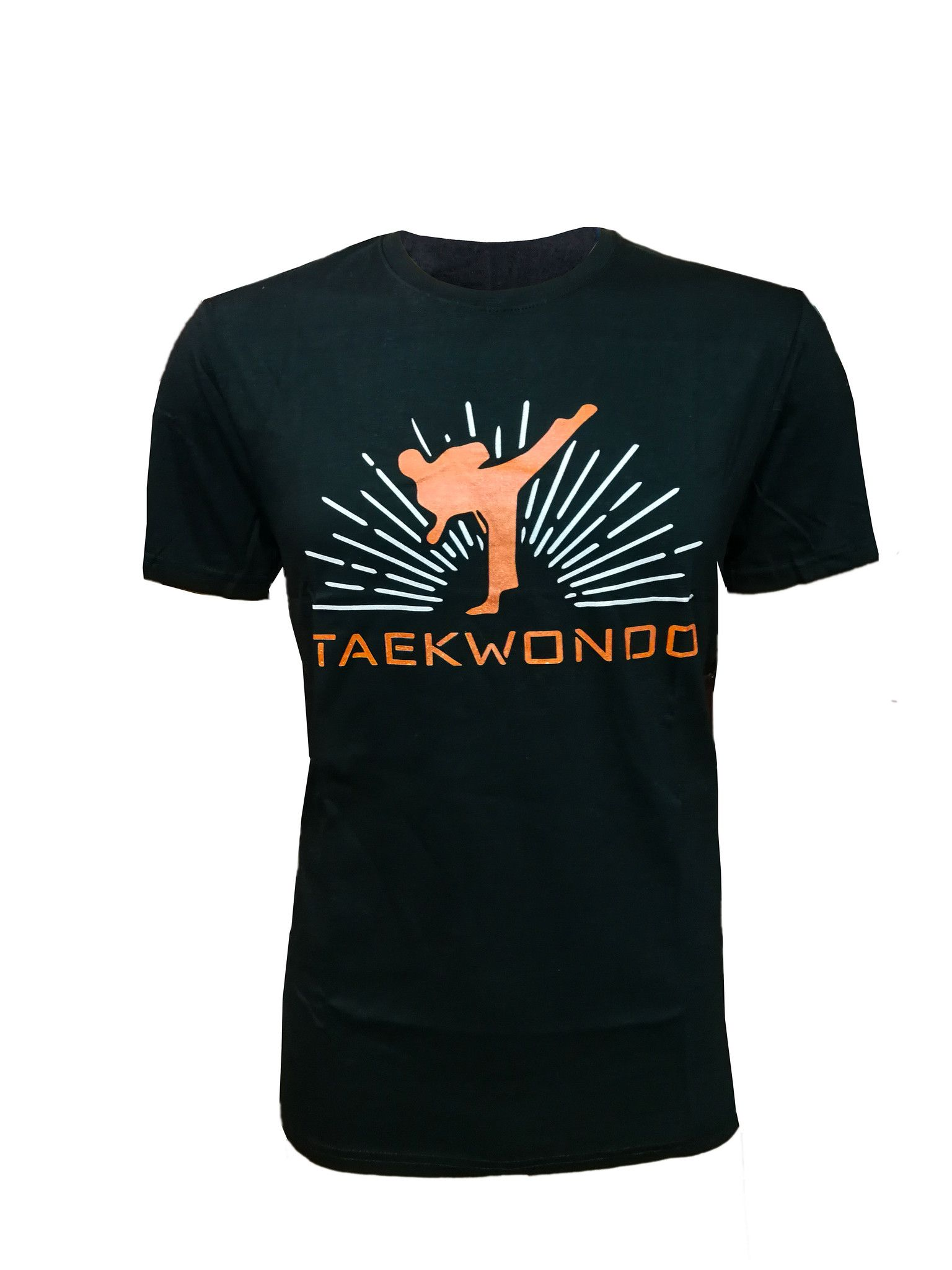 "T-shirt Taekwondo "" Calcio ""  Nera 100% cotone"