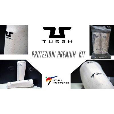 "Kit Protezioni "" Premium "" Tusah per Taekwondo Omologato WT"