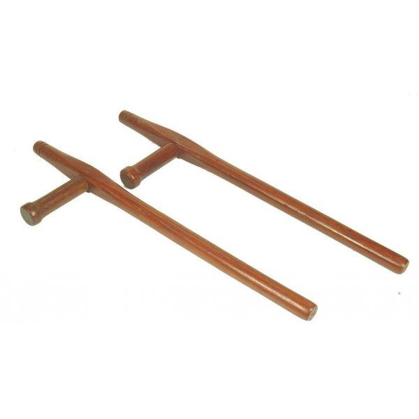Tonfa in legno Karate Arti marziali Kobudo Armi Giapponesi Coppia Tonfa Quercia