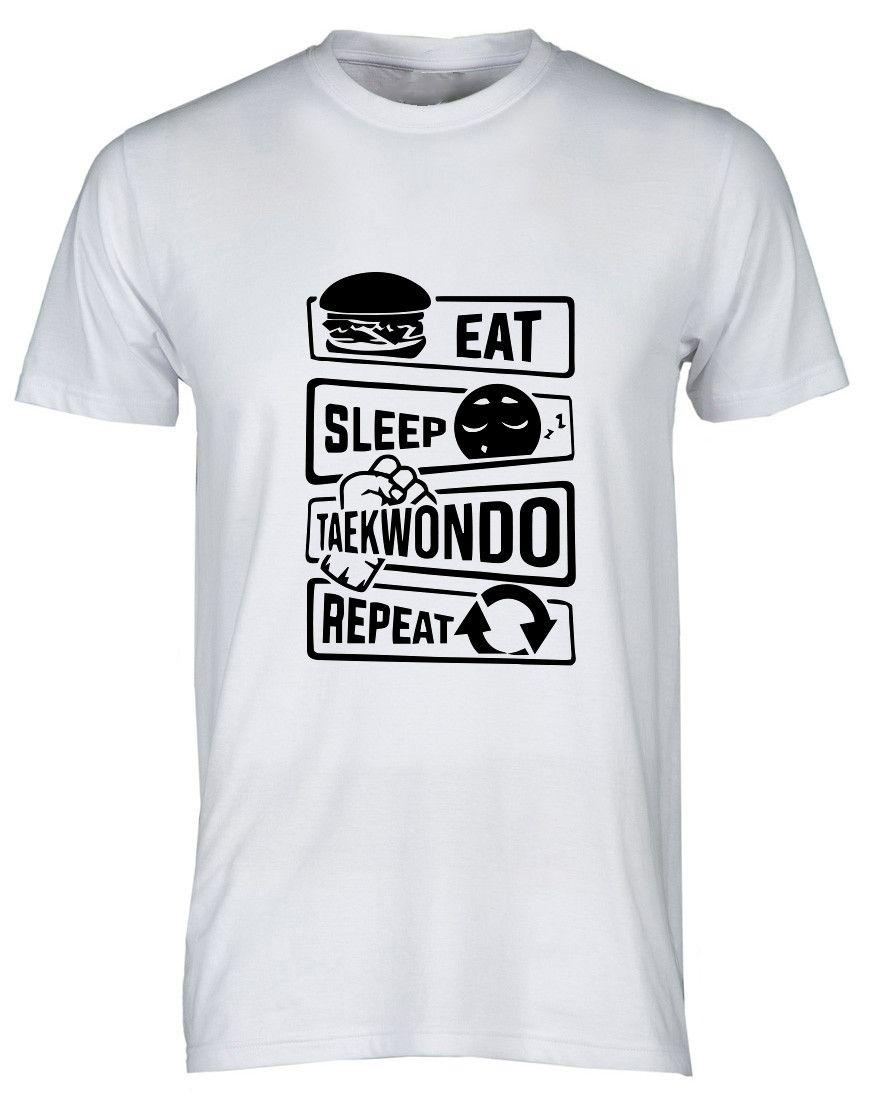 """T-shirt Taekwondo """" TKD Repeat """""""
