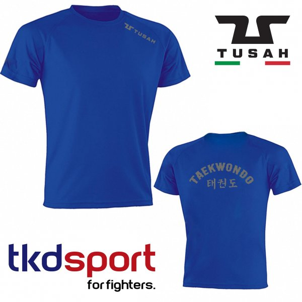 T-shirt Runner Taekwondo Tusah 2.0 Blu traspirante Dry Tech WT WTF