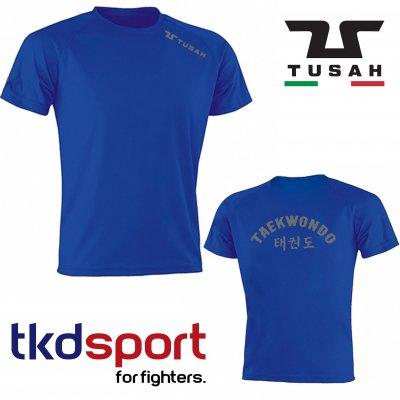 """Tusah T-shirt """" Runner 2.0 Blu """" tkdsport traspirante"""