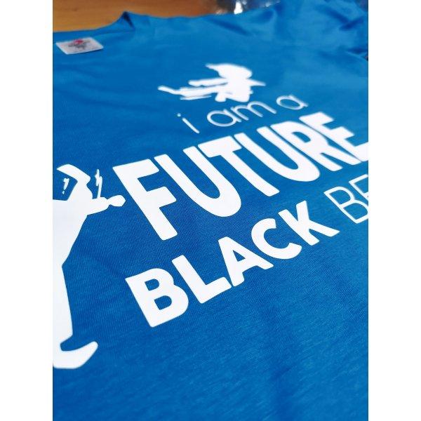 T-shirt Taekwondo Karate I am a Future Black Belt azzurra